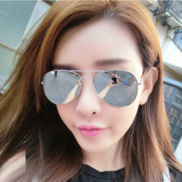 Compra Online Espejo de cristal clásico-Gafas de sol de las mujeres de los hombres del estilista de las obras clásicas de la marca de fábrica al por mayor-FONEX La nueva manera reflejó la lente ULTRAVIOLETA de la protección Eyewear de las mujeres gafas de sol de los pilotos
