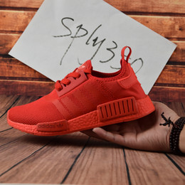 Wholesale Original Adidas NMD Runner R1 W Discount Running Shoes Mens Women s Athletic sneaker Runners Shoe Cheap Brand Boost White With Box
