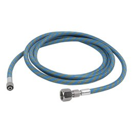 "6 Feet 1.8m Nylon Braided Airbrush Hose Standard 1 8""-1 4"" Adaptor fitting for Spray Gun Airbrush connect to Air Compressor"