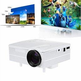 2016 единая панель Оптово-H80 640 * 480 пикселей Full HD 1080P Мини светодиодный проектор для домашнего кинотеатра Одноместный TFT-LCD панель дисплея Поддержка AV USB VGA HDMI единая панель клиренс