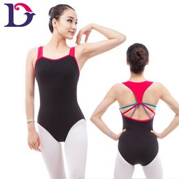 Free shipping A2064 latest colorful women guangzhou dance wears tank leotards dance multicolored wholesale adult ballet leotards