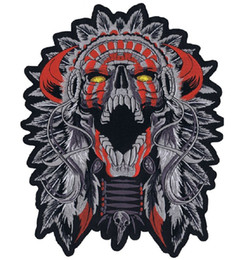 Evil Fashion Customise Embroidery Skull Motorcycle MC Patch Cool Sew On Full Back Size DIY Free Shipping