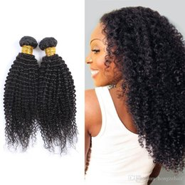 Peruvian Kinky Curly Hair Unprocessed Peruvian Remy Human Hair Weaving 2 Bundles  Lot 8A Grade Curly Hair Extensions Natural Black