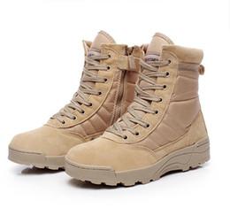 Militar Tactical Combat Deportes al aire libre Ejército Men Botas Desert Botas Senderismo Otoño Zapatos Viajes Cuero Alto Botas Hombre desde bota militar fabricantes