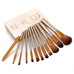 Wholesale NAKED35 per set Power Brush Makeup Brushes Professional Make Up Brush kit Maquiagem Beauty eye FaceTool Metal Box