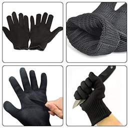 Wholesale Pair Of Anti Cutting Gloves Cut Proof Safety Breathable Outdoor Working Gloves Hands Protector Black or White Color A252