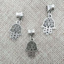 Hamsa collar de mano hallazgo colgante fianza conector pulsera encantos tibet perlas espaciadores de tubo saltar anillos encajar cadenas cuerdas de cuero desde conector de tubo de pulsera fabricantes
