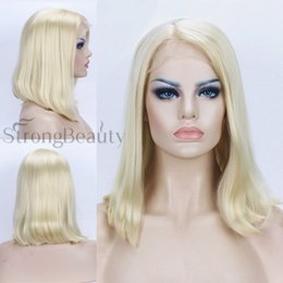 100% Brand New High Quality Fashion Picture wig Lace Front wig Synthesis Heat Resistant Fiber Medium length Blonde Wigs