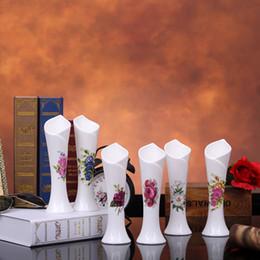19 cm Slim and Tall Arrange Flower Porcelain Vase Tulip Vase For Artificial Flowers,Decoration dinning hall,living room,wedding table.