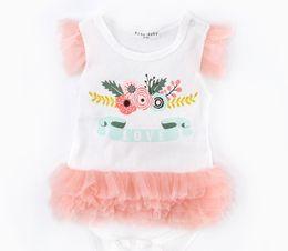 cotton girls tutu romper dresses girl rompers baby cake dress girls Lace Dress Layered dress 0-2years