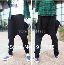Wholesale hip hop style dance pantalone banana harem pants men white low drop crotch harem Pants men sweatpants Tapered slacks calca