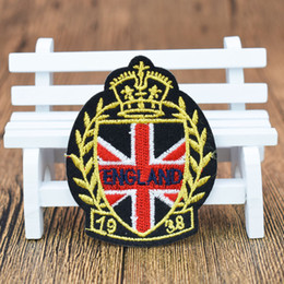 Wholesale England Badges flags patches for clothing iron embroidered style patch applique iron on patches sewing accessories for clothes