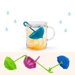 Hot Sale Silicone Teabag Umbrella Silicone Infuser Tea Leaf Strainer Loose Herbal Spice Filter Diffuser Coffee Tea Tools