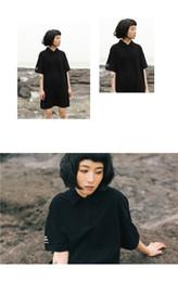Retro Slim camisa de manga corta polo vestidos de cuello Falda larga mediana de las mujeres Nuevo en verano (38) desde vestidos de verano de la manga medio fabricantes