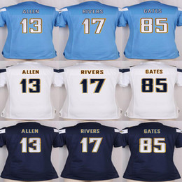 Wholesale Women s Jersey Keenan Allen Philip Rivers Antonio Gates Football Jerseys Stitched Name and Logo