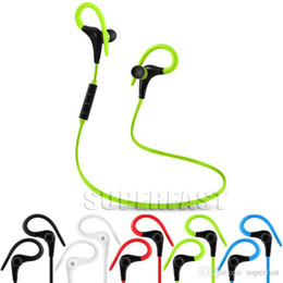 Bluetooth Earphone Wireless Headphone with Hook Stereo Music Player Headset Jogging Headphone For Universal Cellphone with Zipper bag