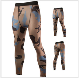 Active Pant Men Skinny Slim Man Full Length Printing Camouflage Design Style Fashionable Sports Leggings Close Fitting Sweat Pants Free Ship