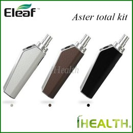 Wholesale Eleaf ASTER Total Kit mah with ml Capacity tank w Max Out Put use IC ohm Heads With Changeable Leather Sticker