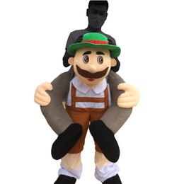 Wholesale Carry Me Beer Guy Ride Mascot Cartoon Costume LongtengTM real picture