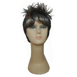 Short Synthetic Hair Wigs Short Straight Hair Wigs with Bangs Cheap Afro Wigs Free Shipping