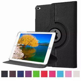Air en cuir libre en Ligne-Pour iPad Pro Air Cas PU Leather 360 Rotation Support Smart Cover Étui pour iPad mini 2 3 4 DHL 100pcs gratuit