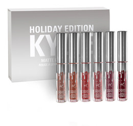 Wholesale Hot Sell kylie holiday edition mini kit KYLIE lipgloss Jenner Matte Liquid Lipstick Lasting best christmas gift