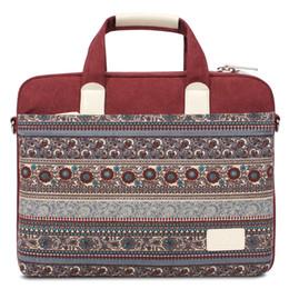 Wholesale BLOOMSTAR Inch Canvas Laptop Sleeve Bag Notebook Computer Handbag Briefcase School Shoulder Bag for MacBook Chromebook Acer Asus Dell