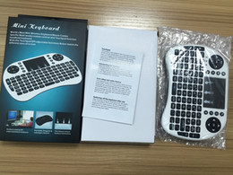 Wholesale Rii Air Mouse Wireless Handheld Keyboard Mini I8 GHz Touchpad Remote Control For MX CS918 MXIII M8 TV BOX Game Play Tablet Mini PC