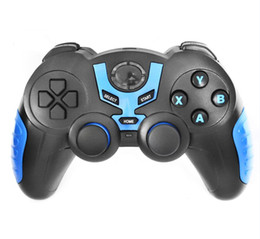 Descuento pc joystick Gamepad controlador de juegos S5 Bluetooth inalámbrico Gamepad joystick para Android Smartphone Tablet PC controlador remoto para iPhone