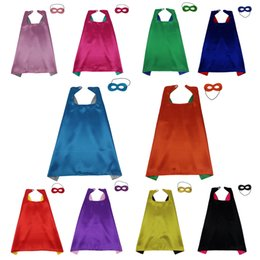 10 capes+10 masks L27* kids cloak birthday gifts halloween costumes party Christmas cosplay child costumes superhero cape mask