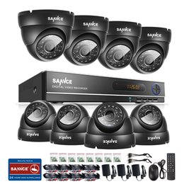 Wholesale SANNCE N AHD CH DVR MP P Outdoor CCTV Cameras Home Security System
