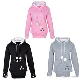 Canada Femmes Cat Lovers Hoodies avec Cuddle Pouch Dog Pet Hoodies pour Casual Kangaroo Pullovers with Ears Sweatshirt Drop Shipping Offre