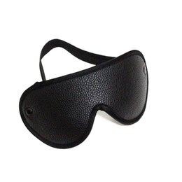 2017 new arrival black leather new design sex wide grid red PU eye blindfold mask for sleeping online shopping