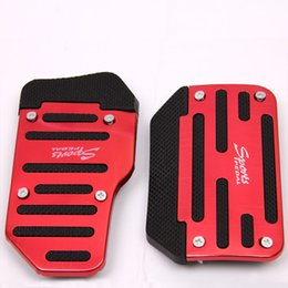Wholesale OFF Universal Aluminum Automatic Transmission Auto Series Red and Black Non Slip Car Pedal Cover Set Kit Pedallar Pedali