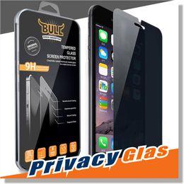Promotion écrans lcd samsung Pour l'iPhone 7 Intégrité Verre trempé pour iPhone 6 Protecteur d'écran LCD Anti-Spy film Screen Guard Cover Shield pour Samsung S5 S6 S7