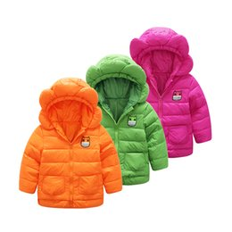 2017 children's clothing new cute flowers modeling down jacket hooded girl short paragraph warm down jacket