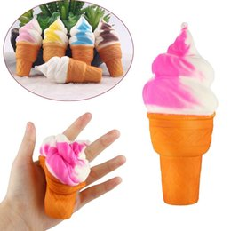 Wholesale cm Soft Ice Cream Simulation Squishy Cake Slow Rising Cellphone Straps Bread Toys