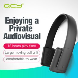 100% Original QCY QCY50 noise cancelling earphones HIFI sound wireless bluetooth 4.1 headphones 3D stereo headset with Mic wholesale