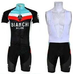 Wholesale New bicycle men cycling jersey team bianchi bike jersey maillot ciclismo Short Sleeve KTM Ropa ciclismo MTB Cycling clothing BIB Shorts