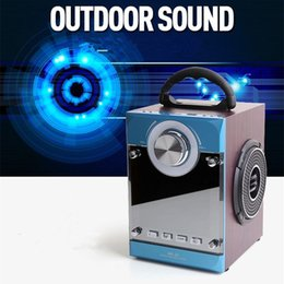 Portable High Power Speaker Lithium Battery Support TF Card USB Disk Playback Support AUX and Microphone Input Speaker