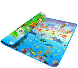 Double-side Print Animal+Ocean 200*180*0.5cm Game Pad Crawling Mat for Babies Educational Toys Play Mats Baby Activity Mat