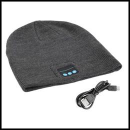 Wholesale NEW Arrival Wireless Bluetooth Headset Hat Warm Beanie Cute Smart Cap Headphone Headset Speaker Mic For Ipad Cell Phone