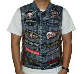 Free shipping 2017 High Quality motorcycle real leather embroidery motorcycle riding team sleeveless garment motorcycle knight vest