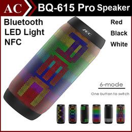Boîte de haut-parleur de radio en Ligne-AEC BQ 615 PRO Portabe Haut-parleur sans fil Bluetooth sans fil Super Bass Blutooth enceinte de bicyclette Sound Box FM Radio NFC pour téléphone Tablet