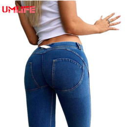 Promotion pousser les jambières de gymnastique Vente en gros - Femmes Basse taille Sport Leggings Sexy Hip Push Up Elastic Sports Pantalons Collants Fitness Gym Pants Bodybuilding Joggers Femmes