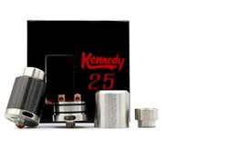 Conseils pour e cig à vendre-Plus récent Kennedy 25 RDA 1: 1 clone Atomiseur Rebuildable 25mm Diamètre large drip pointe rda vs Kennedy 22 E Cigs Box Mod Vaporisateur