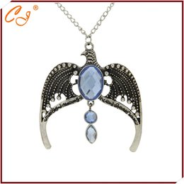 Wholesale potter ravenclaw crown of missing school of magic eagle necklace restoring ancient ways