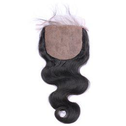 Hot Selling 1pcs 4*4 Body Wave Skin Weft Unprocessed Brazilian Virgin Human Hair Natural Color 8-20 inch Cheap 100% Human Hair