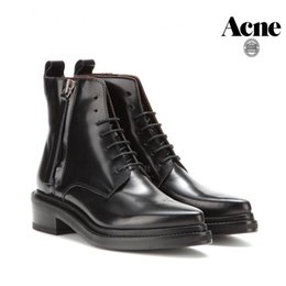 Wholesale New Style Acne Boots Brand Ankle Boots Leather Martin Boots Women Pointed Toe shoes