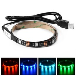TV Background USB Lighting DC5V LED Strip 5050 RGB 30 Led   m IP65 with 3 key Controller Keys 50 cm   1 m   2 m Set